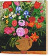 The Flower Pot Wood Print