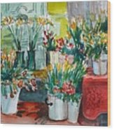 The Flower Shop Wood Print