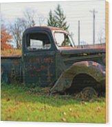 The Flower Truck Wood Print