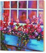The Flowerbox Wood Print