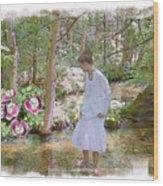 The Flowering Brook Wood Print