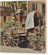 The Flowering Wagon Wood Print