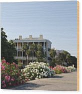The Flowers At The Battery Charleston Sc Wood Print