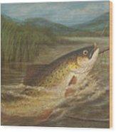The Fly Fisherman's Net Wood Print