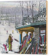 The Foggy Goggle At Seven Springs Wood Print