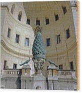 The Fontana Della Pigna In The Vatican City Wood Print