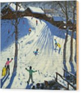 The Footbridge Wood Print