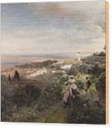 The Footpath From Ariccia To Albano Wood Print