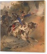 The Foraging Hussar 1840 Wood Print