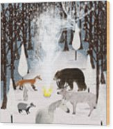 The Forest Guardians Wood Print