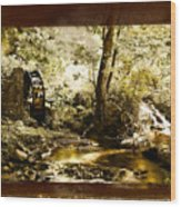 The Forgotten Watermill Wheel Wood Print