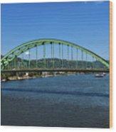 The Fort Henry Bridge - Wheeling West Virginia Wood Print