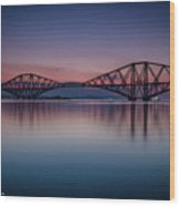 The Forth Bridge Before Sunrise Wood Print