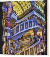 The Forum At Caesars Wood Print