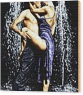 The Fountain Of Tango Wood Print