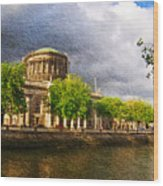 The Four Courts In Reconstruction 2 Wood Print