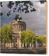The Four Courts In Reconstruction Wood Print