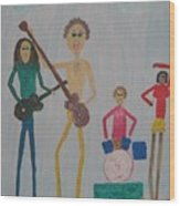 The Four Dogs Band Wood Print