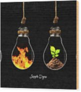 The Four Elements Wood Print