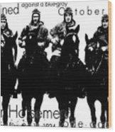 The Four Horsemen Of Notre Dame Wood Print