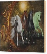 The Four Horses Of The Apocalypse Wood Print