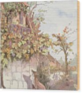 The Fox And The Grapes Wood Print