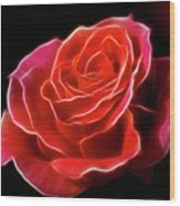 The Fractalius Rose Wood Print