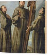 The Franciscan Martyrs In Japan Wood Print by Don Juan Carreno de Miranda