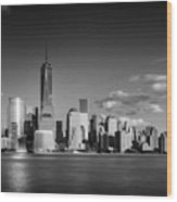 The Freedom Tower And The Lower Manhattan Skyline Wood Print