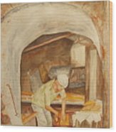 The French Baker Wood Print
