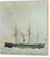The French Battleship Wood Print