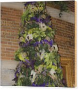 The French Thistle Tree Fashions For Evergreens Hotel Roanoke 2009 Wood Print