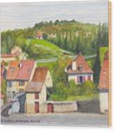 The French Village Of Billy In The Auvergne Wood Print