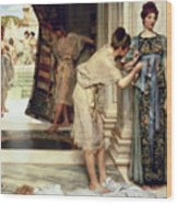 The Frigidarium Wood Print by Sir Lawrence Alma-Tadema