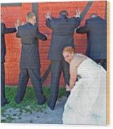 The Frisky Bride Wood Print