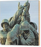 The Front Up Close -- The Iwo Jima Monument Wood Print