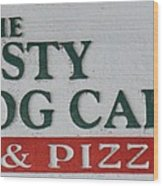 The Frosty Frog Cafe Sign Wood Print