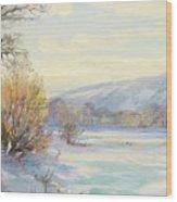 The Frozen Lake Wood Print