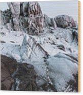 The Frozen Peak Of Bearnagh Wood Print