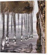 The Frozen Veil Wood Print