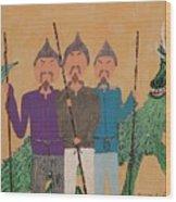 The Fu Man Brothers Wood Print