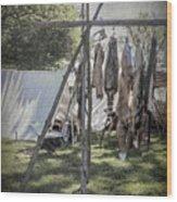 The Fur Trader's Camp 1812 Wood Print