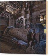 The Furnace And The Rocket 2  La Fornace E Il Razzo 2 Wood Print