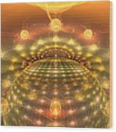 The Galactic Mirror Ball Wood Print