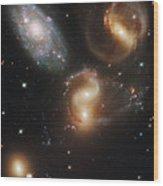 The Galaxies Of Stephans Quintet Wood Print
