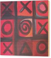 The Game Is Fixed Wood Print by Andrea Friedell