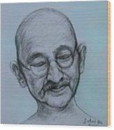 The Gandhi Head Wood Print