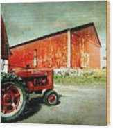The Garage Wood Print