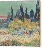 The Garden At Arles  Wood Print by Vincent Van Gogh