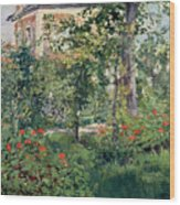 The Garden At Bellevue Wood Print by Edouard Manet